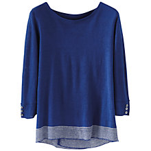Buy Poetry Linen Striped Jumper, Sapphire Online at johnlewis.com