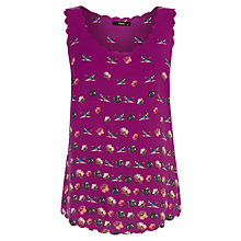 Buy Oasis Floral Scallop Vest, Mid Pink Online at johnlewis.com
