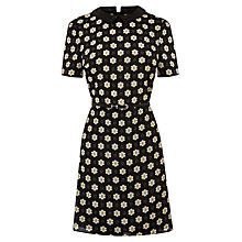 Buy Oasis Pansy Dot Shift Dress, Black/White Online at johnlewis.com