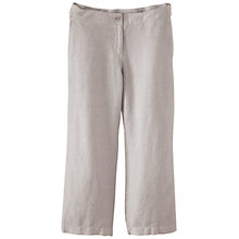 Buy Poetry Cropped Wide Leg Linen Trousers, Ice Online at johnlewis.com