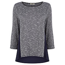 Buy Oasis Tweed Insert Sweater, Multi Blue Online at johnlewis.com