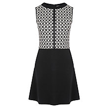 Buy Oasis Grid Check Dress, Black/White Online at johnlewis.com