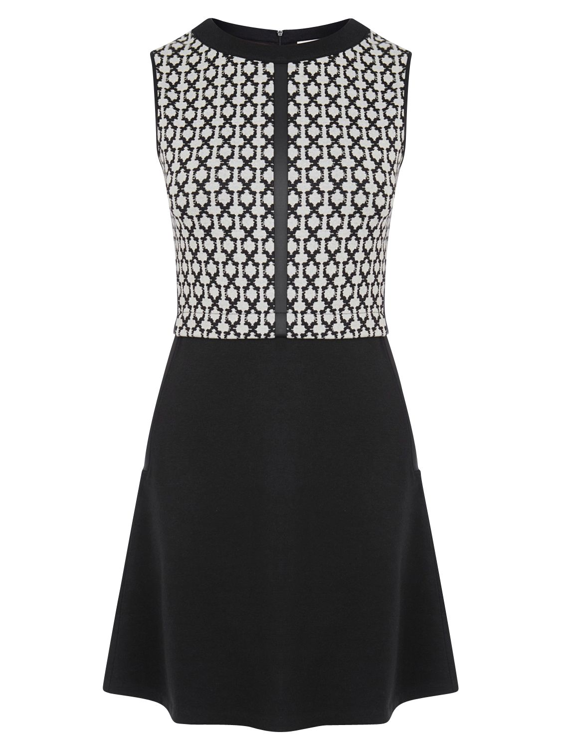 oasis grid check dress black/white, oasis, grid, check, dress, black/white, s|m, special offers, womenswear offers, 30% off selected oasis, women, womens dresses, womens dresses offers, 1865853