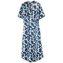 Buy Poetry Linen Printed Dress, Blue Ocean Online at johnlewis.com