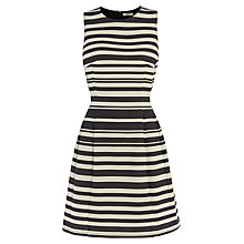 Buy Oasis Stripe Ponte Dress, Black/White Online at johnlewis.com