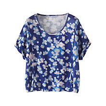 Buy Poetry Printed Linen Jersey Top, Blue Online at johnlewis.com