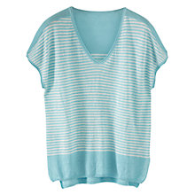 Buy Poetry Linen Striped Knit Top Online at johnlewis.com
