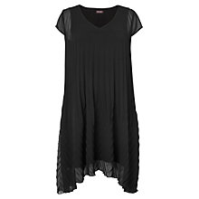 Buy Phase Eight Sandrine Pleasted Dress, Black Online at johnlewis.com