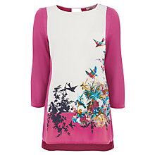 Buy Oasis Bloom Bird Placement  Top, Multi Online at johnlewis.com
