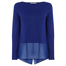 Buy Oasis Double Layer Top, Mid Blue Online at johnlewis.com