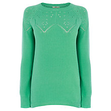 Buy Oasis Pointelle Mid Gauge Jumper Online at johnlewis.com