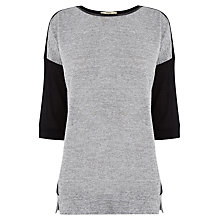 Buy Oasis Colour Block Sweatshirt, Black/Grey Online at johnlewis.com