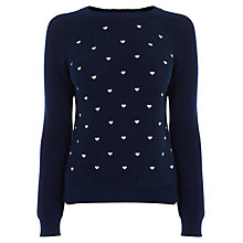 Buy Oasis Heart Embroidered Jumper Online at johnlewis.com