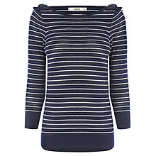 Buy Oasis Bow Shoulder Jumper, Navy Online at johnlewis.com
