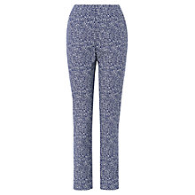 Buy Phase Eight Madison Jacquard Trousers, Navy/Ivory Online at johnlewis.com