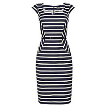 Buy Phase Eight Jude Striped Dress, Indigo/Ivory Online at johnlewis.com