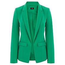 Buy Oasis Ponte Jacket, Mid Green Online at johnlewis.com