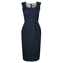 Buy Phase Eight Cilla Denim Spotted Dress, Indigo Online at johnlewis.com