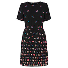 Buy Oasis Fading Flowers Dress, Black/Multi Online at johnlewis.com