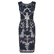 Buy Phase Eight Dotty Tapework Dress, Navy/White Online at johnlewis.com