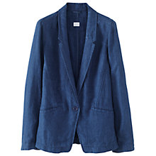 Buy Poetry Linen Garment Dyed Jacket, Indigo Online at johnlewis.com