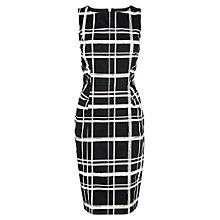 Buy Phase Eight Greta Checked Dress, Black/Ivory Online at johnlewis.com