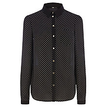 Buy Oasis Spot Print Shirt, Multi Online at johnlewis.com