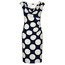 Buy Phase Eight Albo Spot Dress, Navy/Ivory Online at johnlewis.com