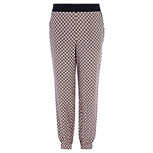 Buy Oasis Geo Patched Soft Trousers, Multi Online at johnlewis.com