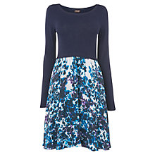 Buy Phase Eight Anju Printed Knit Dress, Navy Online at johnlewis.com