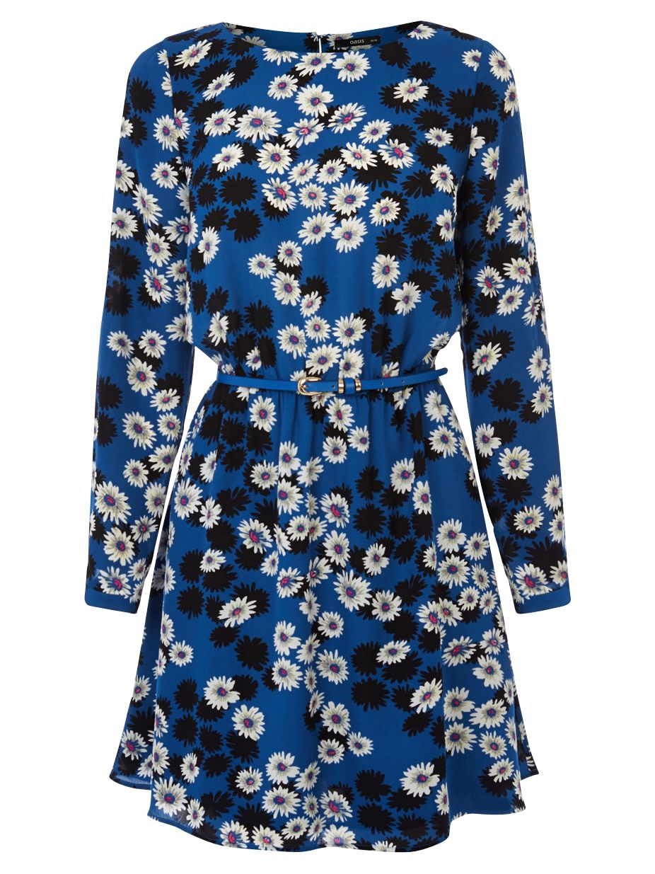 oasis daisy shadow skater dress mid blue, oasis, daisy, shadow, skater, dress, mid, blue, special offers, womenswear offers, women, womens dresses, latest reductions, womens dresses offers, 1866269