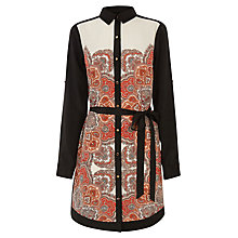 Buy Oasis Paisley Shirt Dress, Multi Black Online at johnlewis.com