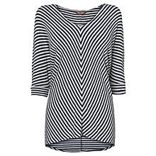 Buy Phase Eight Mildred Chevron Stripe Top, Silver/Blue Online at johnlewis.com