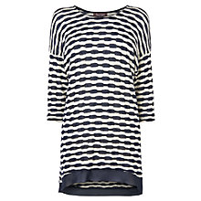 Buy Phase Eight Tahlia Textured Top, Navy/Ivory Online at johnlewis.com