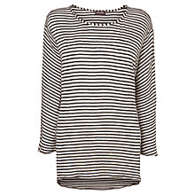 Buy Phase Eight Candace Cut About Top, Black/Stone Online at johnlewis.com