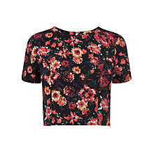 Buy Oasis Cropped Rose Top, Multi Online at johnlewis.com
