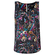 Buy Oasis Katrina Bloom Vest, Navy Online at johnlewis.com