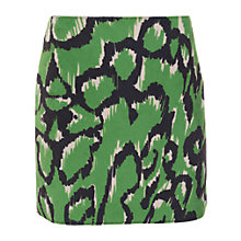Buy French Connection Leopard Moth Mini Skirt, Astro Green Online at johnlewis.com