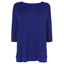 Buy Phase Eight Ariana Boxy Knit Top, Amparo Blue Online at johnlewis.com