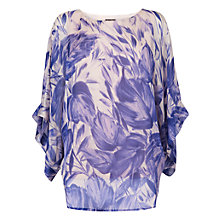 Buy Phase Eight Giselle Printed Blouse Top, Ivory/Blue Online at johnlewis.com