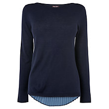 Buy Phase Eight Patience Pin Spot Jumper, Navy Online at johnlewis.com