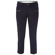 Buy White Stuff Moon Bay Slim Cropped Trousers, Navy Online at johnlewis.com