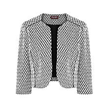 Buy Phase Eight Carley Textured Jacket, Black/White Online at johnlewis.com