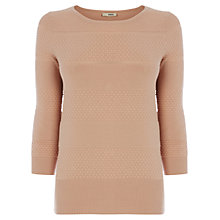 Buy Oasis Multi Stitch Compact Top Online at johnlewis.com