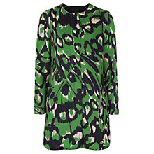 Buy French Connection Leopard Moth Collarless Coat, Astro Green Online at johnlewis.com