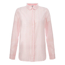Buy Jigsaw Geo Tile Cotton Shirt, Coral Online at johnlewis.com