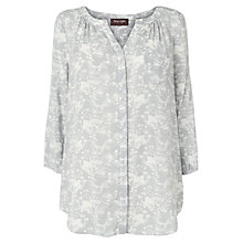 Buy Phase Eight Swan Printed  Blouse Top, Grey/Ivory Online at johnlewis.com