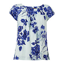 Buy Phase Eight Samara Floral Blouse, Mint Online at johnlewis.com