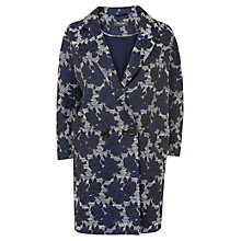 Buy Phase Eight Mia Rose Jacquard Coat, Navy Online at johnlewis.com