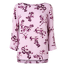 Buy Phase Eight Neeva Floral Blouse, Mauve Online at johnlewis.com